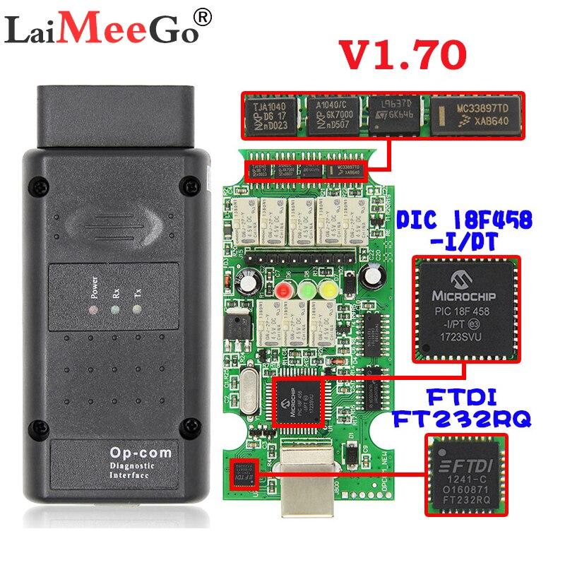 OP-COM V1.7 2014V Interface für Opel Opecom Auto Diagnose Kabel mit PIC18F458 Chip FTDI op-com OBD2 Auto diagnose tool