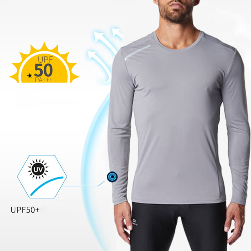 Men UPF50+ Long Sleeve Performance T-Shirt UV Sun Protection Quick Dry Outdoor Top  YA88