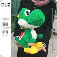 DUZ 8620 Video Game Super Mario Yoshi Big Monster 3D Model DIY Mini Building Blocks Bricks Toy for Children 34cm tall no Box