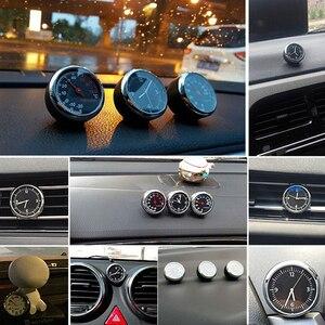 Image 4 - עגול צורת רכב רכב דיגיטלי שעון אוטומטי שעון/מדחום/מדדי לחות רכב פנים קישוט קישוט רכב סטיילינג