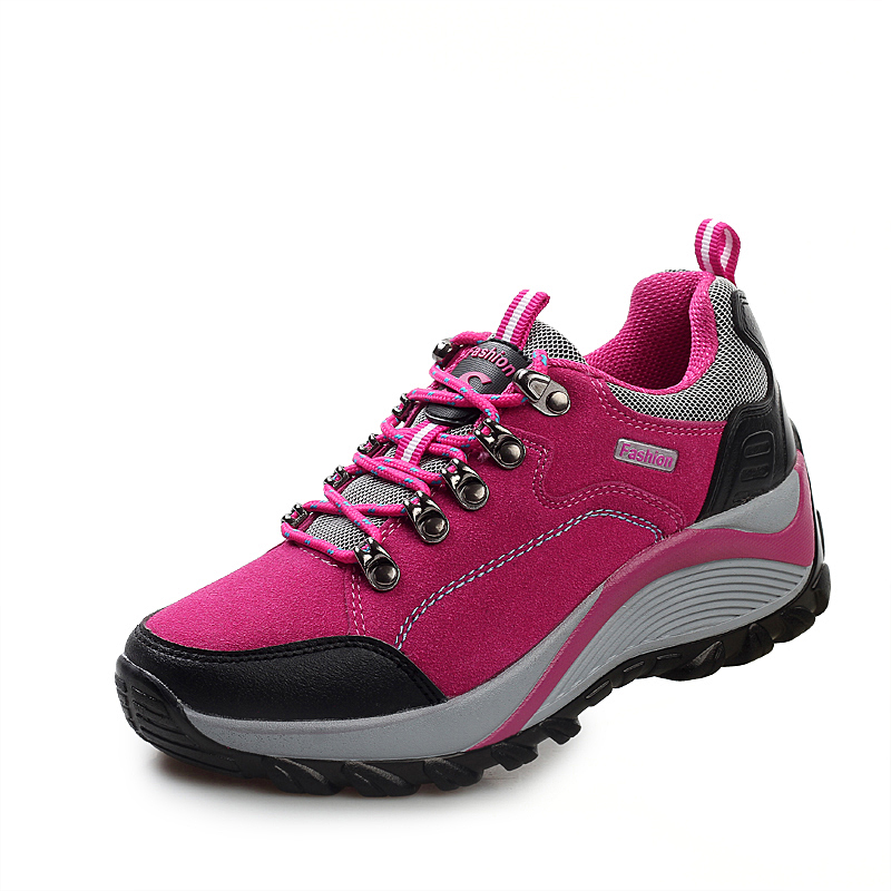 Frauen Wandern Stiefel Dicke Sohle Dämpfung Trekking Schuhe Frau Professionelle Klettern Turnschuhe Damen Große Größe Klobigen Stiefeletten