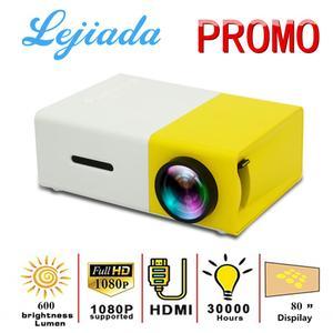 LEJIADA YG300 LED Mini Projector 320x240 Pixels Supports 1080P YG-300 HDMI USB Audio Portable Projector Home Media Video player()
