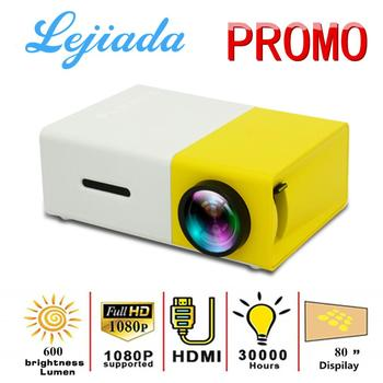 LEJIADA YG300 Pro Mini projektor LED 480 #215 320 pikseli obsługuje 1080P HDMI USB Audio przenośny projektor Home Media Video player tanie i dobre opinie Brak CN (pochodzenie) 4 03 Focus System multimedialny 480x320 dpi 600Lumens 24-80inches 800 01 00 Rozrywki Projektora