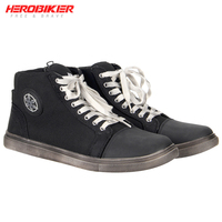 HEROBIKER Motorcycle Boots Men Road Street Casual Shoes Motorbike Riding Motocross Boots Breathable Moto Boots Protective Gear