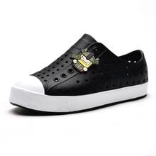 Детская обувь; летняя обувь для мальчиков; пляжная водонепроницаемая обувь на плоской подошве; Сабо; яркие цвета; сандалии из ЭВА для девочек; размеры 28-35