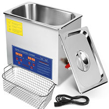 6L Ultrasonic Cleaners Cleaning Supplies Jewellery Heater Basket ind