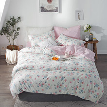 Yimeis Twin Size Bedding 4pcs Duvet Cover 220x240 Printing Bed Linen Cotton BE47100(China)