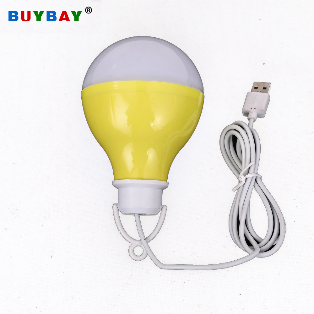 BUYBUY USB LED Bulb Travel Tent Light 5V 7W Portable Outdoor Lamp Small LED Night Light For Hiking Camping Work With Power Bank