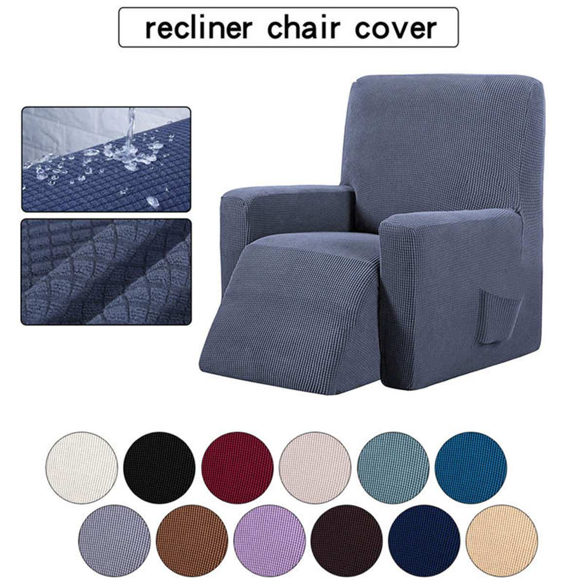 Recliner Chair Protector All-inclusive Sofa Cover Elasticity Stretch Anti-slip Slipcovers Single Seat Sofa Recliner Couch Cover