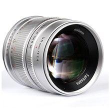 7artisans – objectif de caméra sans miroir 55mm F1.4, pour Canon EOS-M Fuji Sony Olympus M4/3, objectif de caméra Portrait, mise au point manuelle, APS-C
