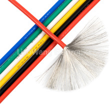 30AWG 5 meters/lot,30# AWG,High temperature resistant silicone wire,DIY Battery Wire Electronic wire цены онлайн