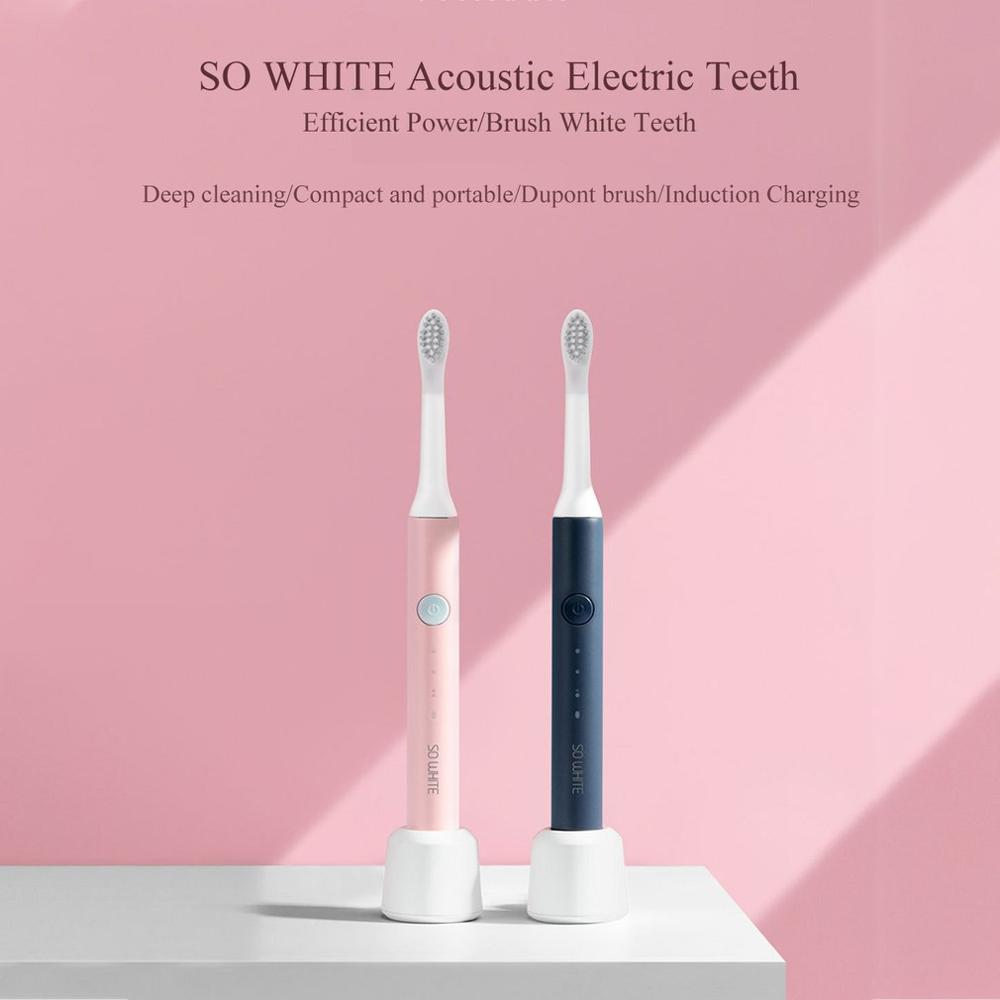 NEW Xiaomi Mijia SO WHITE Ultra Sonic Toothbrush Electric Automatic Toothbrush USB Rechargeable Waterproof Teeth Cleaning image