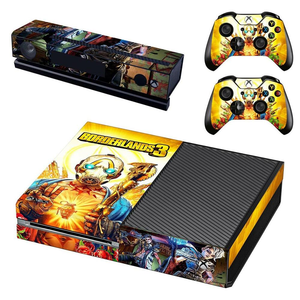 <font><b>Borderlands</b></font> 3 Skin Sticker Decal For Xbox One Console and Kinect and 2 Controllers For Xbox One Skin Sticker Vinyl image