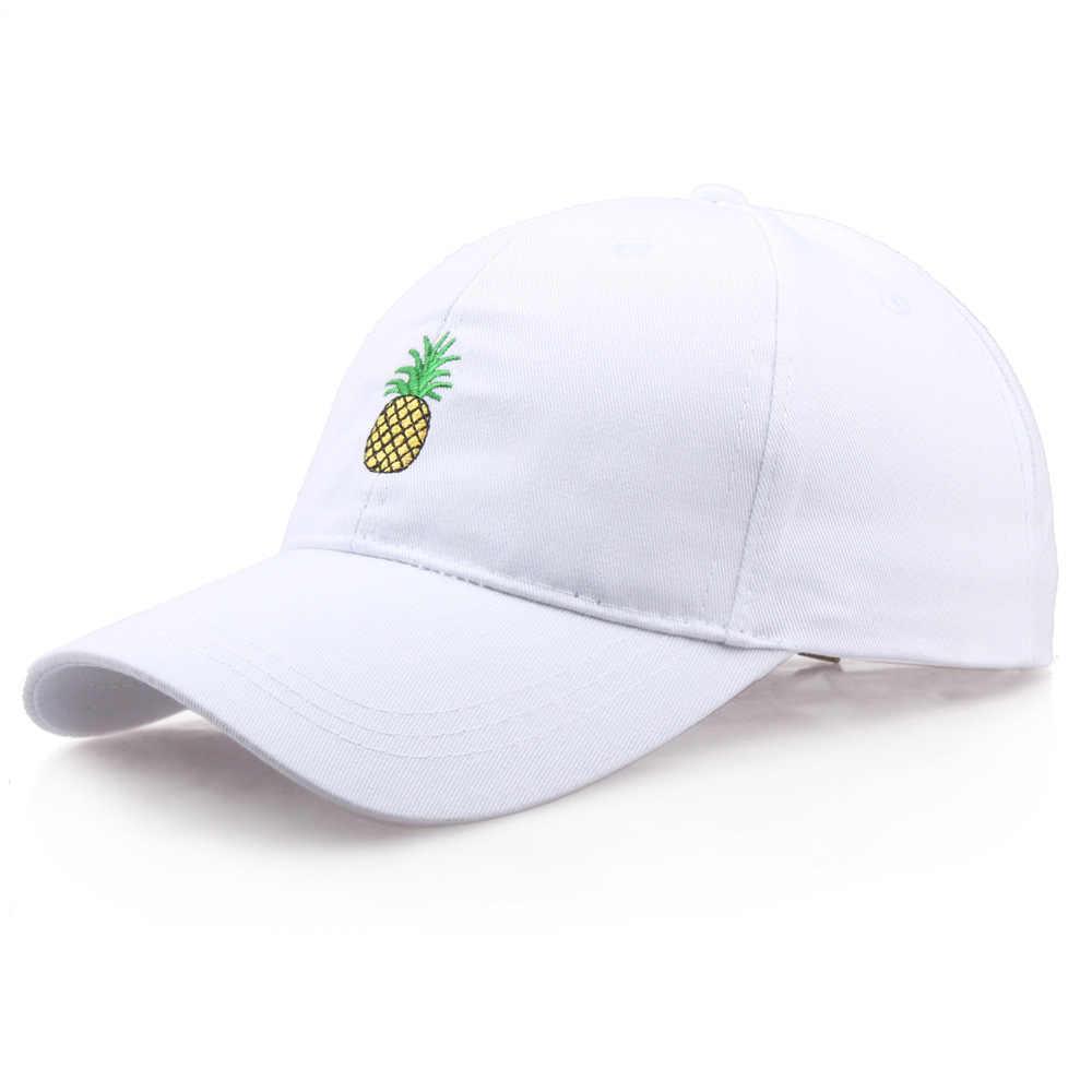Boné de beisebol dos homens das mulheres abacaxi bordado pai chapéu caminhoneiro moda unissex snapback hip hop boné de verão chapéus streetwear natal
