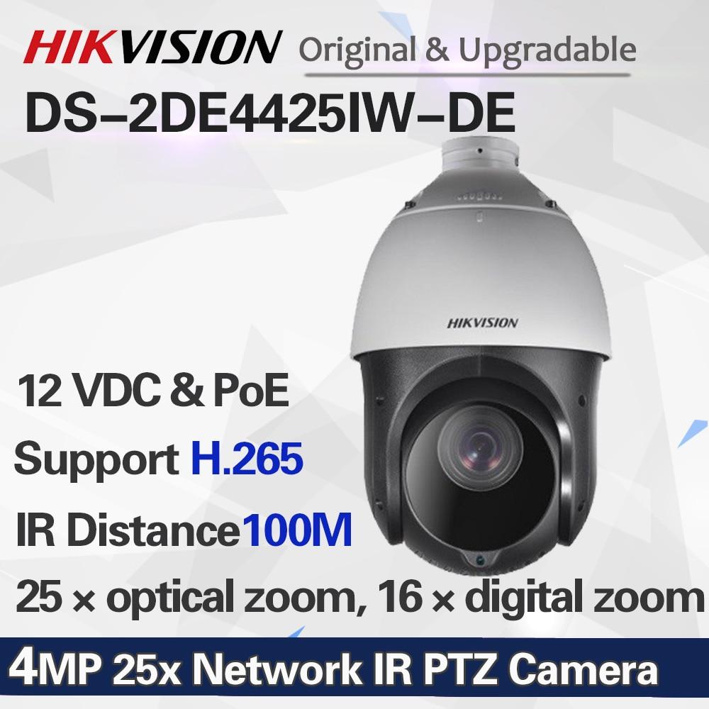 DS-2DE4425IW-DE 4MP 25x сеть ИК PTZ cctv камера ультра-низкий светильник H.265 poe 100 м ИК IP камера безопасности