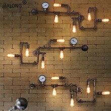 Dampf punk Loft Industriellen eisen rost Wasser rohr retro wand lampe Vintage E27 leuchte lichter für wohnzimmer restaurant bar schlafzimmer