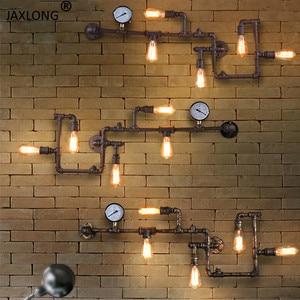 Image 1 - Steam Punk LOFT อุตสาหกรรมเหล็กท่อน้ำ Rust Retro Wall VINTAGE E27 sconce สำหรับห้องนั่งเล่นร้านอาหารบาร์ห้องนอน