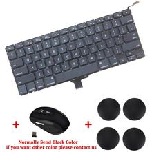 US Version Notebook Laptop Keyboard Replacement for Apple Macbook Pro A1278 Free wireless mouse and Laptop Rubber Bottom Feet