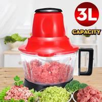 3L Electric Meat Grinder 300W Multifunction Food Vegetable Blenders Stuffing Mincer Food Processor EU Plug Detachable Design|Meat Grinders| |  -
