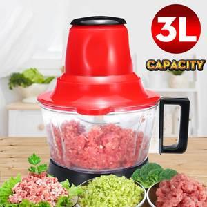 3L Electric Meat Grinder 300W Multifunction Food Vegetable Blenders Stuffing Mincer Food Processor EU Plug Detachable Design