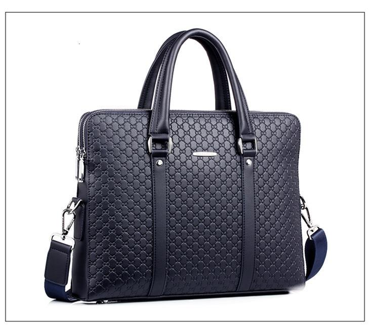 H32dcc733739947dfa569a1a83bae7dd6e New Double Layers Men's Leather Business Briefcase Casual Man Shoulder Bag Messenger Bag Male Laptops Handbags Men Travel Bags
