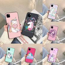 Rainbow Lovely Unicorn Phone Case For iphone 5s 6 7 8 11 12 plus xsmax xr pro mini se Cover Fundas Coque