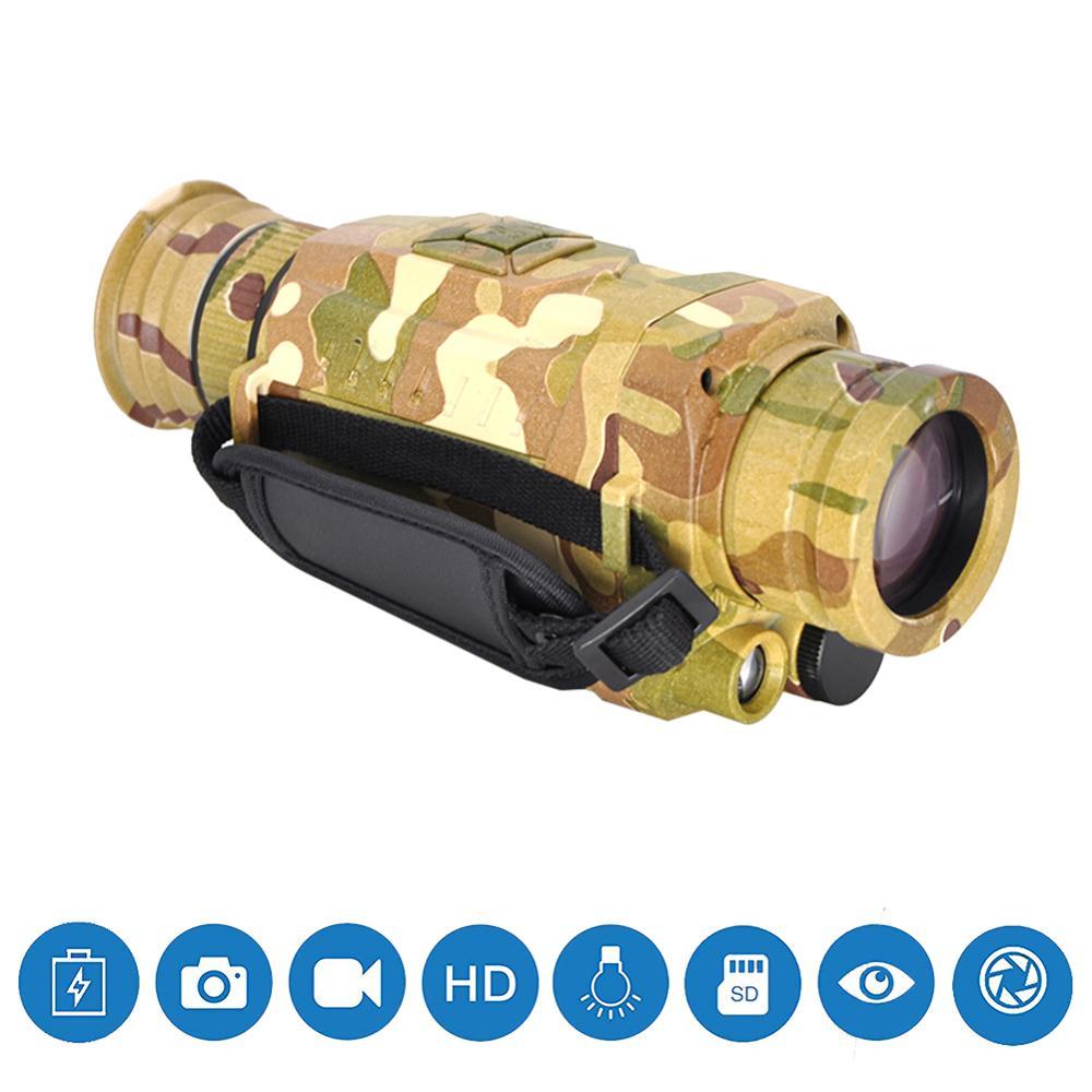 Ночного видения Монокуляр 5X инфракрасная цифровая камера видео 200 м Диапазон для наружного охоты кемпинга используется для съемки фотограф...