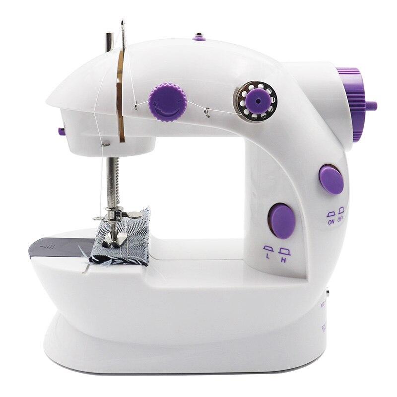 Mini máquina de costura elétrica para casa máquina de mão para costurar ajuste de ponto de bloqueio com luz handheld portátil máquina de costura