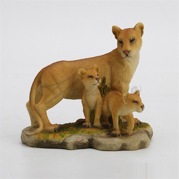 Lion Art Sculpture Lion Mother and Son Animal Figurine Statue Creative Resin Crafts Home Decoration Birthday Gift R4957