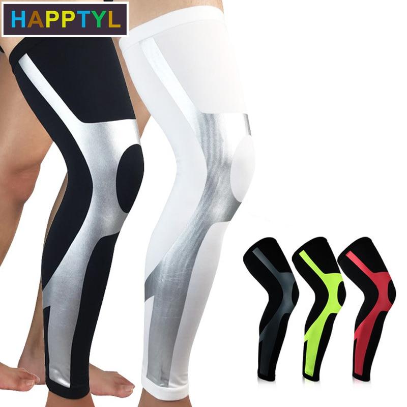 HAPPTYL 1Pcs Compression Leg Sleeves, Leg Knee Long Sleeves Knee Support For Football Baseball Basketball Running Cycling