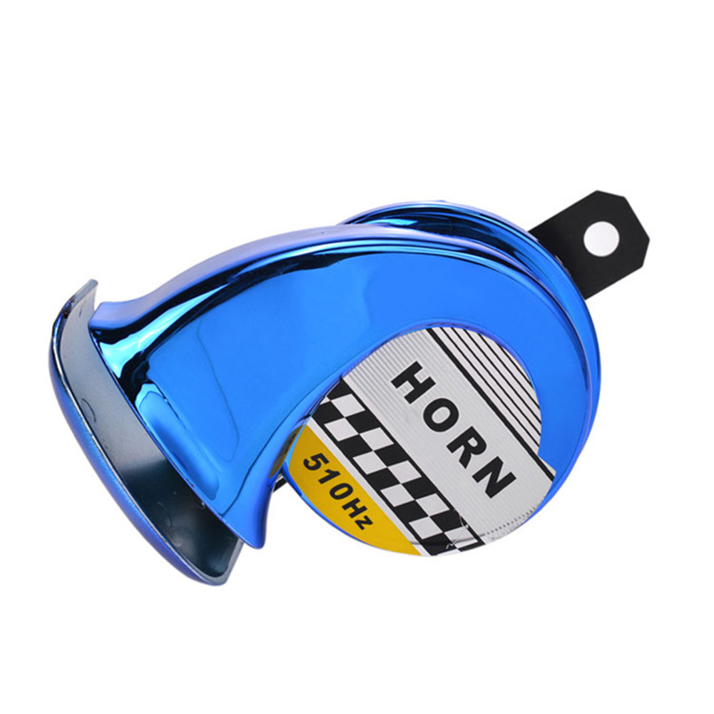 Festnigt Universal Car Motorcycle Motorbike Truck Boat 130DB Electric Loud Snail Air Horn Siren Waterproof 12V Blue