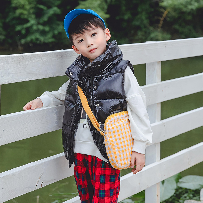New Fashion Shiny Child Waistcoat Children Outerwear Winter Coats Kids Clothes Warm Cotton Baby Girls Boys Vest For 90 170cm in Vests from Mother Kids