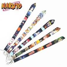 Anime Naruto Keychain Lanyard ID Badge Holder Cosplay Accessories Sasuke Kakashi