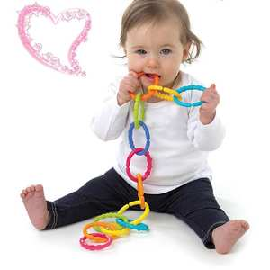 Baby Toys Rainbow Ring-Teethers Montessori Gifts Hanging Crib Stroller for Children 6pcs
