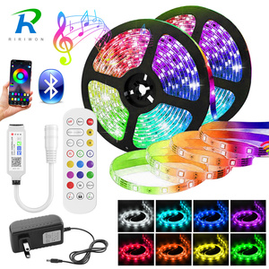 5050 LED Strip Light 20M-5M Bluetooth RGB 2835 SMD Flexible Ribbon led light strip RGB Tape Diode DC 12V Music Bluetooth Control
