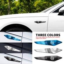 Автомобильный 2 шт. для Fiat Viaggio 125 695 595 Egea Mobi Sedici Toro Uno Croma 1000SP 1100 ABARTH 3D металлический корпус боковое крыло задний багажник