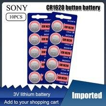2021 novo 10 pçs cr1620 botão bateria ecr1620 dl1620 5009lc pilha moeda bateria de lítio 3v cr 1620 para assistir brinquedo eletrônico remoto