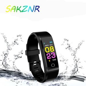 Image 1 - 115 Plus Smart Wristband Blood Pressure Watch Fitness Tracker Heart Rate Monitor Band Smart Activity Tracker Bracelet