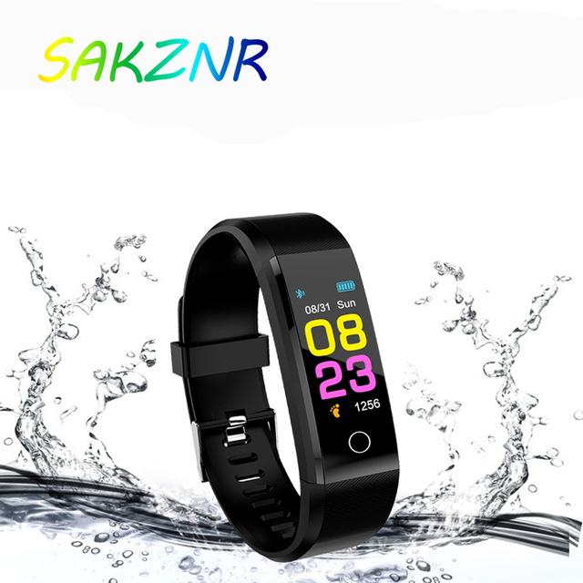 115 Plus Smart Wristband Blood Pressure Watch Fitness Tracker Heart Rate Monitor Band Smart Activity Tracker Bracelet