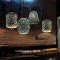 Оригинальный современный 3D красочный скандинавский звездное небо подвесной стеклянный абажур подвесной светильник E27 Светодиодный светил...