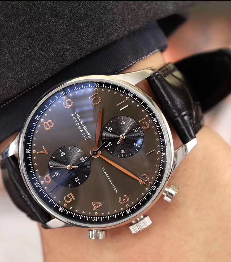 Luxury Brand New Chronograph Men Watch Pilot PORTUGIESER Sapphire Rose Gold Grey Black Blue Brown Leather Limited White Watches
