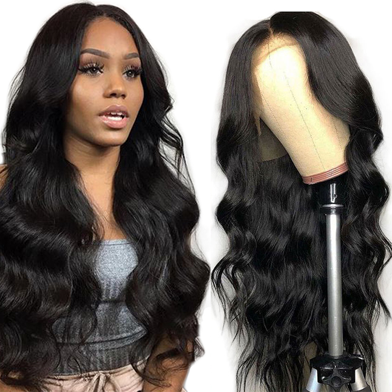 Sapphire Brazilian Body Wave Wig Pre Plucked Lace Front Wig Remy Hair Wig 150% 13x4 Lace Frontal Human Hair Wig For Black Women