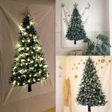 Ins Рождественская елка сосна подвесная ткань украшение для стен Рождественское украшение для дома небольшой свежий праздничный фон просто...
