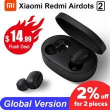 Xiaomi redmi airdots 2 tws bluetoothワイヤレスイヤホンステレオ低音イヤフォン音声コントロールbt 5.0ノイズリダクションタップai制御