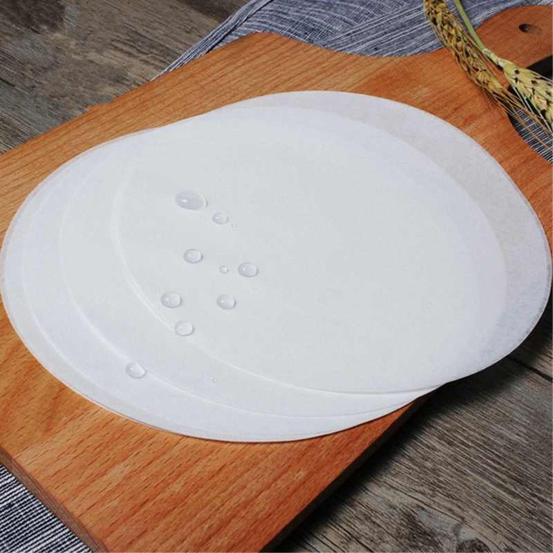 100 шт Круглые 8 дюймовые силиконовые бумажные рулоны для выпечки антипригарные круги для выпечки листы Пергамент Для Выпечки листы для торта сковородки круг Cak