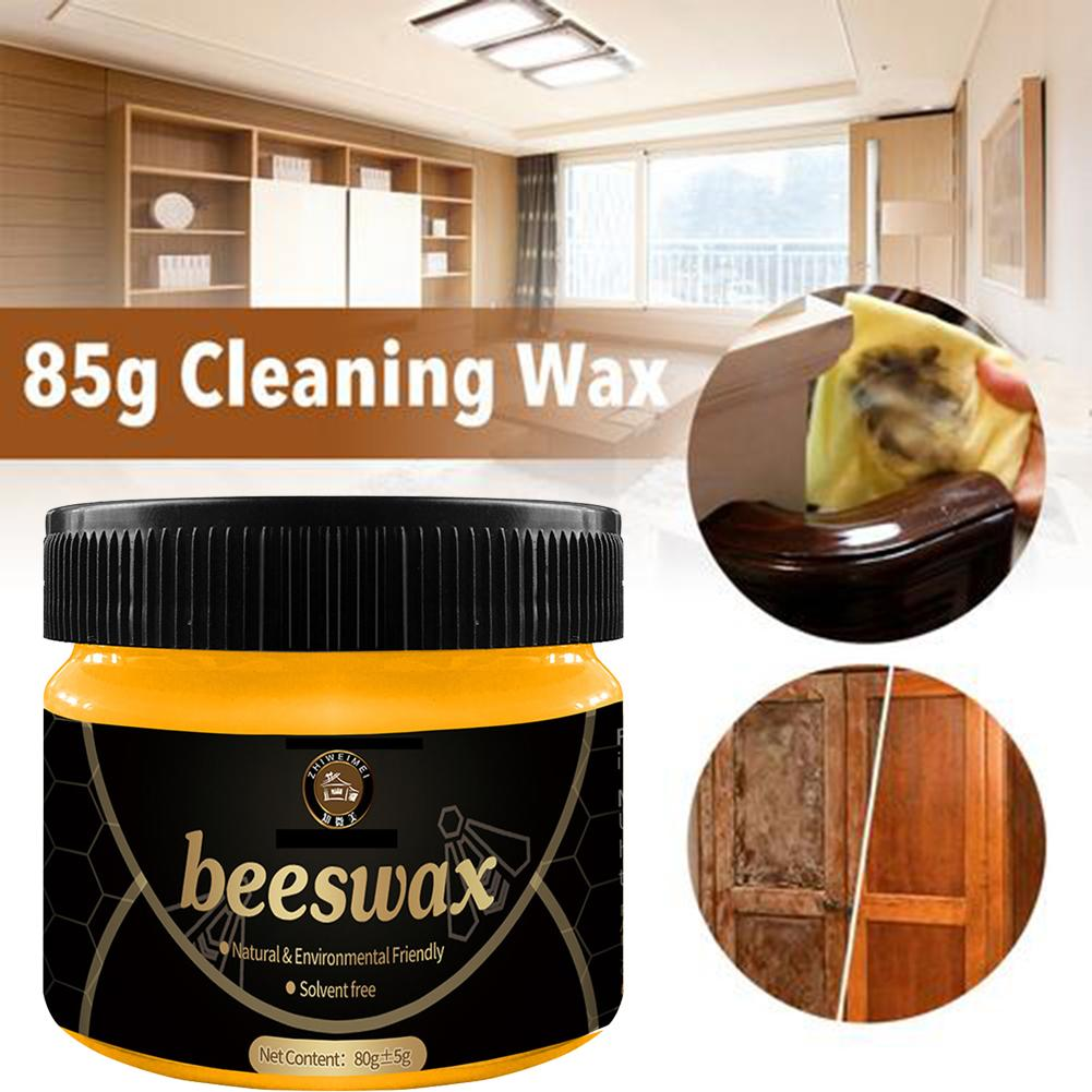 85G Organic Natural Pure Wax Wood Seasoning Beewax Laminate Flooring Furniture Care Beeswax For Home Cleaning Polishing Tools