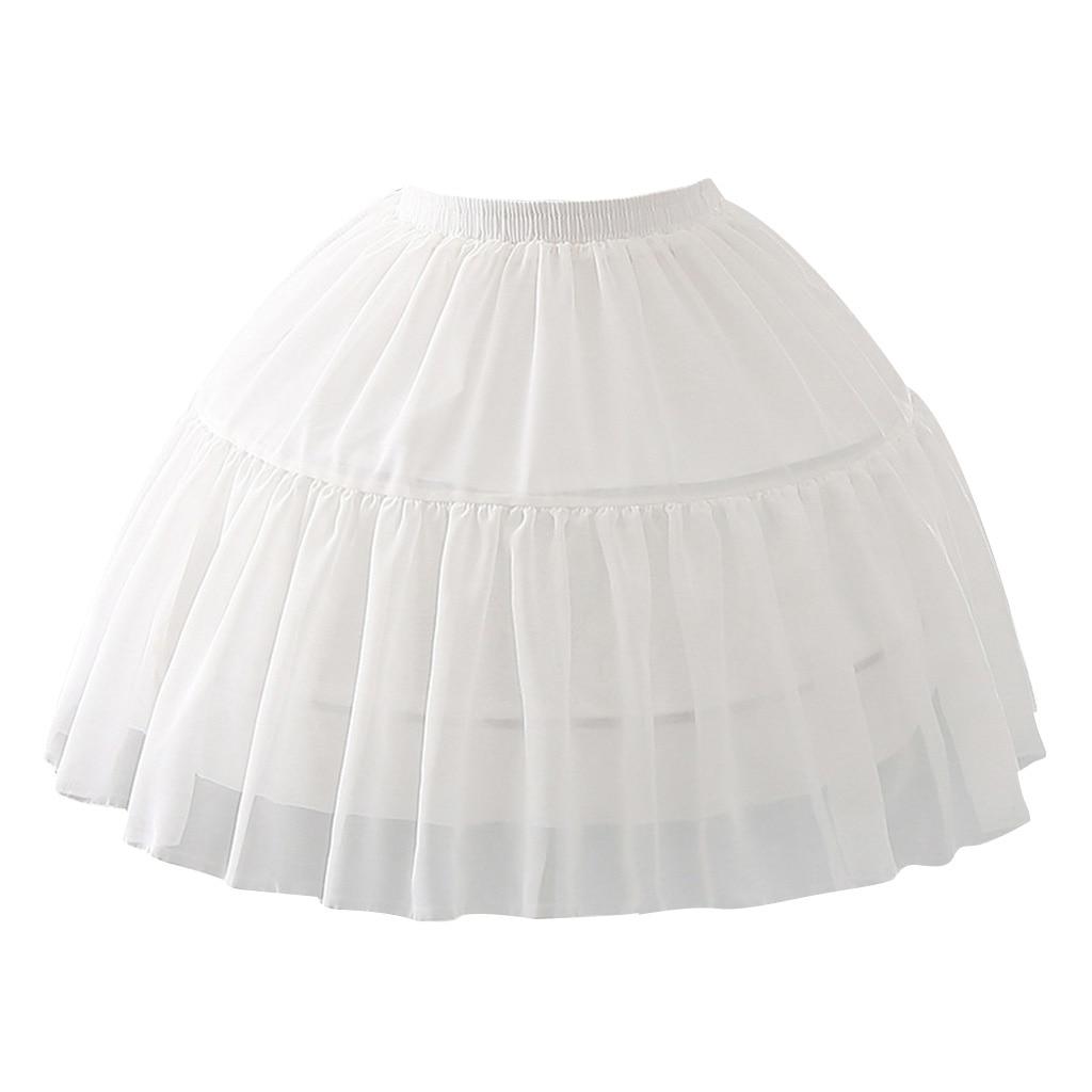 Women Girls Multi Layer Cosplay Lolita Elastic Waistband Single Steel Loop Bridal Wedding Dress Petticoat