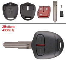 цены 433MHz 2 Buttons Keyless Flip Remote Key Fob ID46 Chip Fit for MITSUBISHI Triton Pajero Outlander ASX Lancer MIT8 Lama 2008-2012