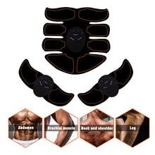Abdominal Muscle Arm Exerciser Muscle Stimulator Body Slimming Training Fat Burning Body Building Fitness Massage Shaper Machine
