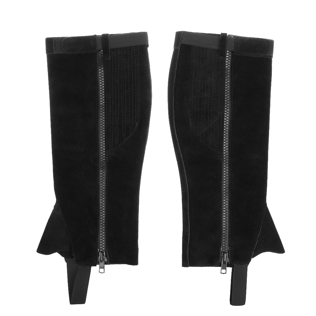 Zipper Adult Half Chap - Professional & Breathable, Easy Care for Equestrian Horse Riding - 3 Colors